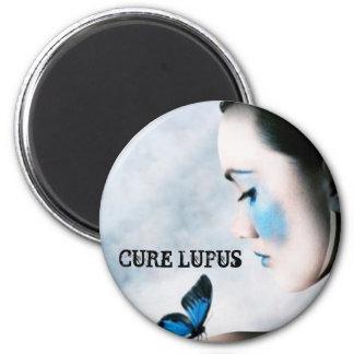 Conciencia del lupus imán redondo 5 cm