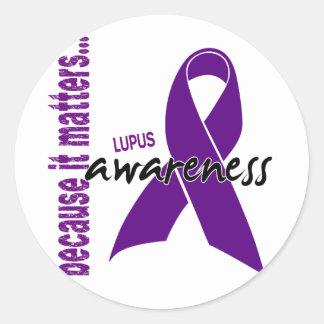 Conciencia del lupus pegatinas redondas