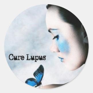 Conciencia del lupus pegatina redonda