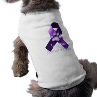Conciencia del lupus playera sin mangas para perro