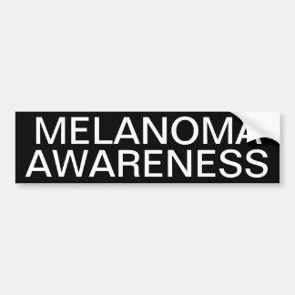 Conciencia del melanoma etiqueta de parachoque