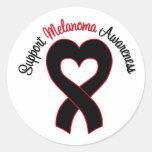 Conciencia del melanoma de la ayuda etiquetas redondas
