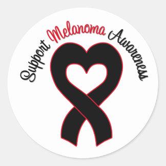 Conciencia del melanoma de la ayuda pegatina redonda