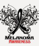 Conciencia del melanoma de la mariposa playeras