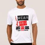 Conciencia del movimiento llevo la cinta roja para camiseta
