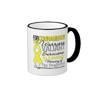 Conciencia del sarcoma de la ayuda del tributo taza a dos colores
