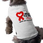 Conciencia del SIDA camino para mi héroe Camisetas Mascota