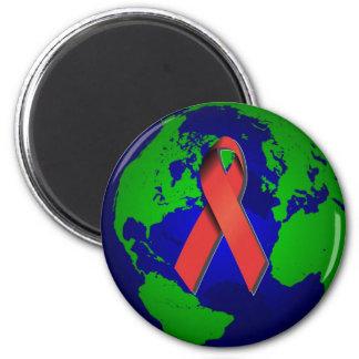 Conciencia del SIDA para todos Imán Redondo 5 Cm
