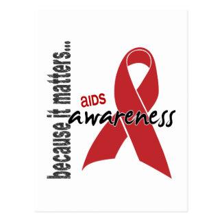 Conciencia del SIDA Postales