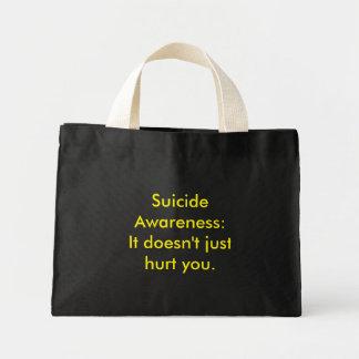 Conciencia del suicidio bolsa tela pequeña