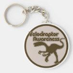 Conciencia del Velociraptor Llavero Redondo Tipo Pin