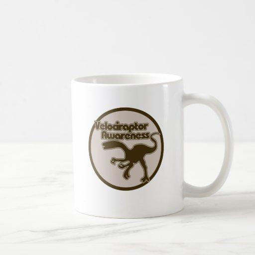 Conciencia del Velociraptor Tazas De Café