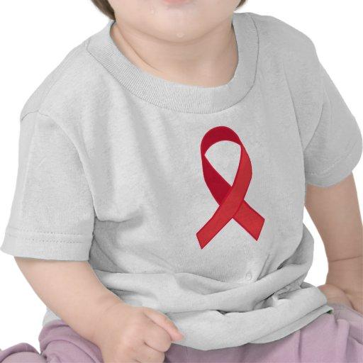Conciencia del VIH - cinta roja Camiseta