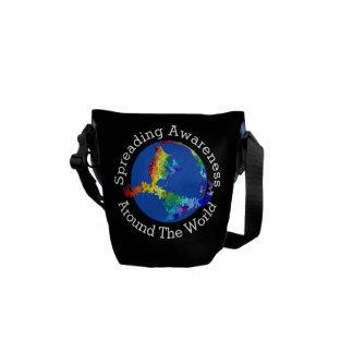 Conciencia global del autismo - mini bolsas messenger