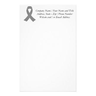 Conciencia gris de la cinta - zombi, cáncer de papelería personalizada