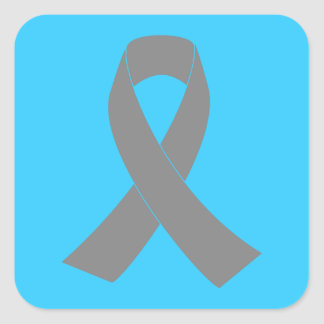 Conciencia gris de la cinta - zombi, cáncer de pegatina cuadrada