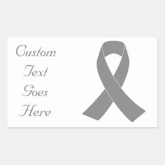Conciencia gris de la cinta - zombi, cáncer de pegatina rectangular