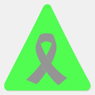 Conciencia gris de la cinta - zombi, cáncer de pegatina triangular