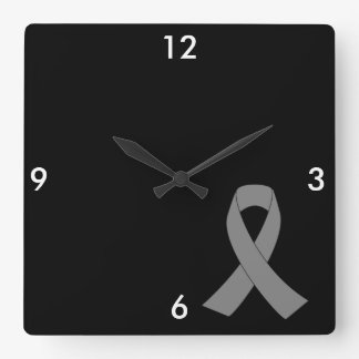 Conciencia gris de la cinta - zombi, cáncer de reloj cuadrado