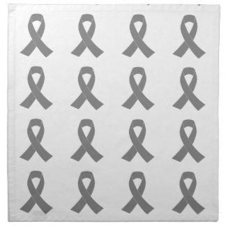 Conciencia gris de la cinta - zombi, cáncer de servilletas imprimidas
