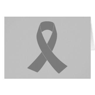 Conciencia gris de la cinta - zombi, cáncer de tarjeta de felicitación