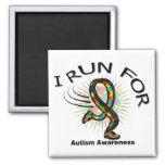 Conciencia I corrido para el autismo Imanes