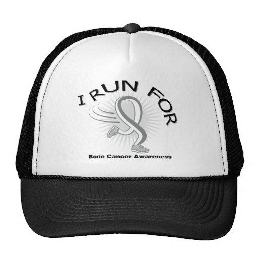 Conciencia I corrido para el cáncer de hueso Gorros