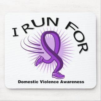 Conciencia I corrido para la violencia en el hogar Alfombrillas De Ratón