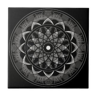 Conciencia - mandala sagrada de la geometría azulejo cuadrado pequeño