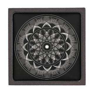 Conciencia - mandala sagrada de la geometría cajas de joyas de calidad
