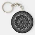 Conciencia - mandala sagrada de la geometría llaveros personalizados