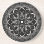 Conciencia - mandala sagrada de la geometría posavasos diseño