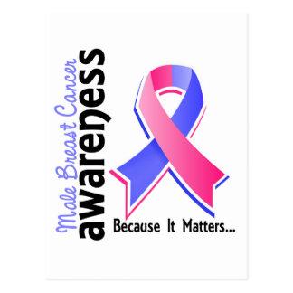 Conciencia masculina 5 del cáncer de pecho tarjeta postal