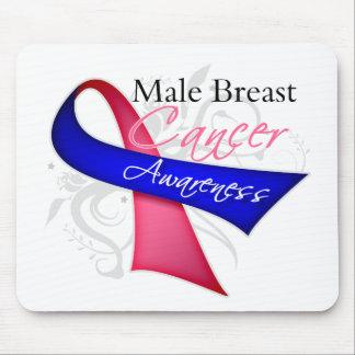 Conciencia masculina del cáncer de pecho de la alfombrillas de raton