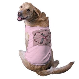 Conciencia metastática del cáncer de pecho playera sin mangas para perro