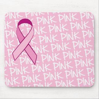 Conciencia Mousepad - cinta rosada del cáncer de p
