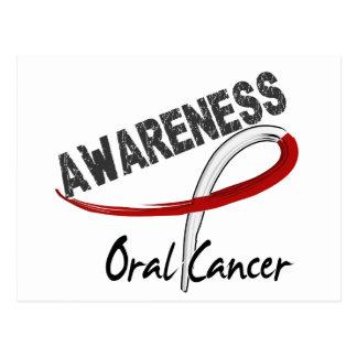 Conciencia oral 3 del cáncer tarjeta postal