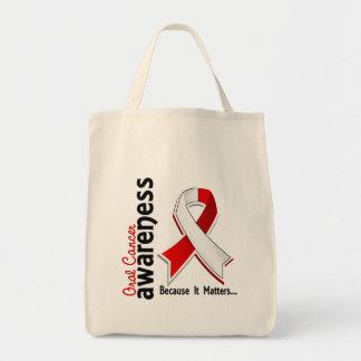 Conciencia oral 5 del cáncer bolsa tela para la compra