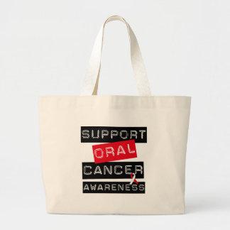 Conciencia oral del cáncer de la ayuda bolsa tela grande