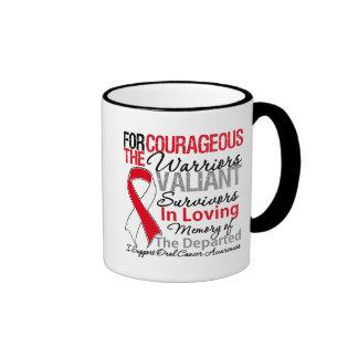 Conciencia oral del cáncer de la ayuda del tributo tazas