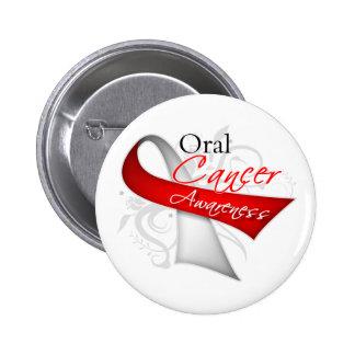 Conciencia oral del cáncer de la cinta de voluta pin redondo de 2 pulgadas