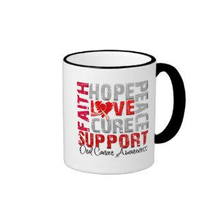 Conciencia oral del cáncer de la curación del amor tazas de café