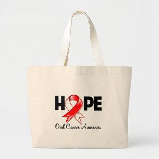 Conciencia oral del cáncer de la esperanza bolsa tela grande