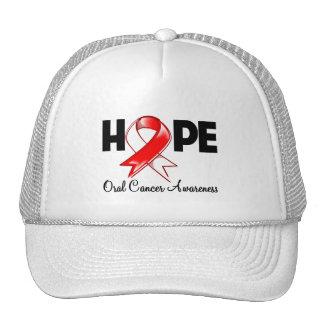 Conciencia oral del cáncer de la esperanza gorros