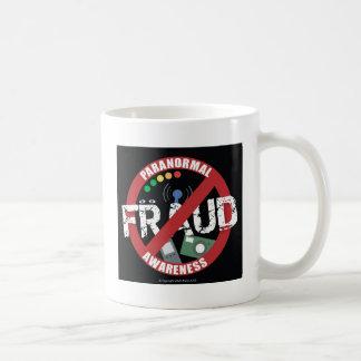 Conciencia paranormal del fraude taza