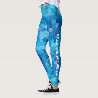 Conciencia personalizada del autismo leggings