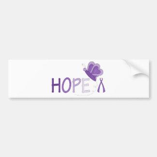 Conciencia púrpura de la cinta de la esperanza pegatina para auto