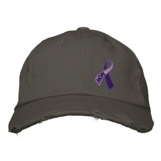 Conciencia púrpura de la cinta del día del alcohol gorras bordadas