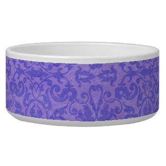 Conciencia púrpura del vintage floral boles para gatos
