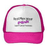 Conciencia real del cáncer del rosa del desgaste d gorros